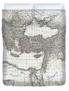 1782 D Anville Map Of The Eastern Roman Empire Duvet Cover