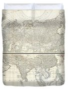 1784 D Anville Wall Map Of Asia Duvet Cover