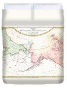 1788 Schraembl Map Of The Northwest Passage Duvet Cover