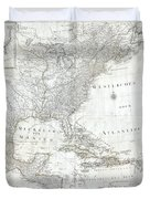 1788 Schraembl  Pownall Map Of North America And The West Indies Duvet Cover