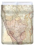 1793 Faden Wall Map Of India Duvet Cover
