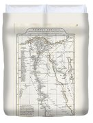 1794 Anville Map Of Ancient Egypt  Duvet Cover