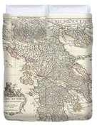 1794 Anville Map Of Ancient Greece  Duvet Cover