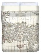 1794 Anville Map Of Asia Minor In Antiquity Duvet Cover