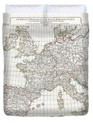 1794 Anville Map Of Europe In Late Roman Times Duvet Cover