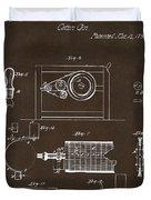 1794 Eli Whitney Cotton Gin Patent 2 Espresso Duvet Cover