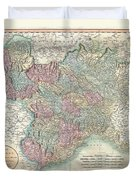 1799 Cary Map Of Piedmont Italy  Milan Genoa  Duvet Cover