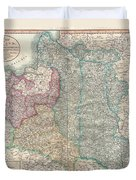 1799 Cary Map Of Poland Prussia And Lithuania  Duvet Cover