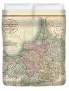 1799 Cary Map Of Prussia And Lithuania  Duvet Cover