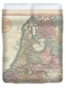 1799 Cary Map Of The Netherlands Duvet Cover