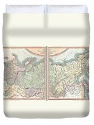1799 Cary Map Of The Russian Empire Duvet Cover