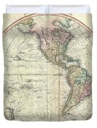 1799 Cary Map Of The Western Hemisphere  Duvet Cover