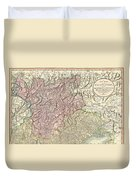 1799 Cary Map Of Tyrol Duvet Cover