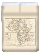 1799 Clement Cruttwell Map Of Africa  Duvet Cover