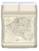 1799 Clement Cruttwell Map Of Belgium Or The Netherlands Duvet Cover