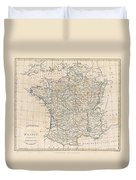 1799 Clement Cruttwell Map Of France In Provinces Duvet Cover