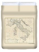 1799 Clement Cruttwell Map Of Italy Duvet Cover