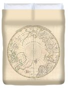 1799 Clement Cruttwell Map Of North Pole Duvet Cover