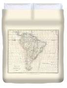 1799 Clement Cruttwell Map Of South America  Duvet Cover