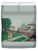 17th And Hutchins Street Portsmouth Ohio Duvet Cover