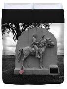 17th Pennsylvania Cavalry Monument Gettysburg Duvet Cover