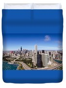 Aerial View Of Buildings In A City Duvet Cover