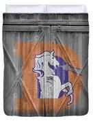 Denver Broncos Duvet Cover by Joe Hamilton