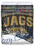 Jacksonville Jaguars Duvet Cover by Joe Hamilton