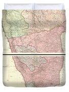 1800 Faden Rennell Wall Map Of India Duvet Cover