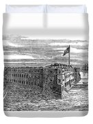 1800s 1860s View Of Fort Taylor Key Duvet Cover