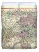 1801 Cary Map Of Austria Duvet Cover