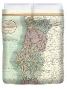 1801 Cary Map Of Portugal Duvet Cover