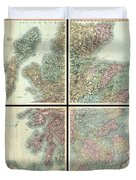 1801 Cary Map Of Scotland  Duvet Cover