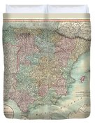 1801 Cary Map Of Spain And Portugal Duvet Cover