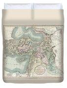 1801 Cary Map Of Turkey Iraq Armenia And Sryia Duvet Cover