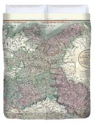 1801 Cary Map Of Upper Saxony Germany  Berlin Dresden Duvet Cover