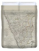 1804 German Edition Of The Rennel Map Of India Duvet Cover