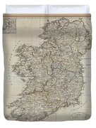 1804 Jeffreys And Kitchin Map Of Ireland Duvet Cover
