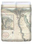 1805 Cary Map Of Egypt Duvet Cover