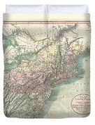 1806 Cary Map Of New England New York Pennsylvania New Jersey And Virginia Duvet Cover