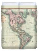1806 Cary Map Of The Western Hemisphere  North America And South America Duvet Cover