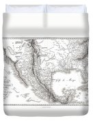 1811 Humboldt Map Of Mexico Texas Louisiana And Florida Duvet Cover
