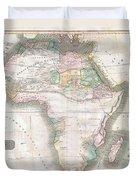 1813 Thomson Map Of Africa Duvet Cover