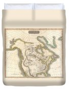 1814 Thomson Map Of North America Duvet Cover