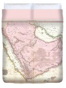 1818 Pinkerton Map Of Arabia And The Persian Gulf Duvet Cover
