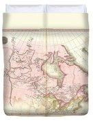 1818 Pinkerton Map Of British North America Or Canada Duvet Cover