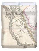 1818 Pinkerton Map Of Egypt Duvet Cover