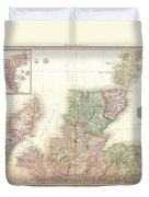 1818 Pinkerton Map Of Northern Scotland Duvet Cover