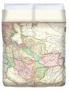 1818 Pinkerton Map Of Persia  Duvet Cover