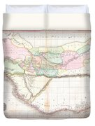 1818 Pinkerton Map Of Western Africa  Duvet Cover